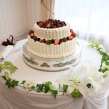 ケーキカットのケーキ
