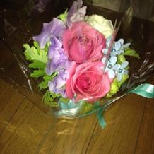 ブライダルフェアみやげのお花