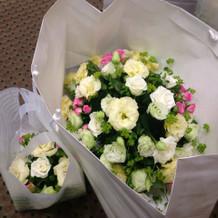 メイン装花と会場装花の持ち帰り