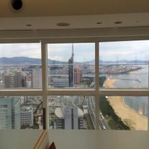 チャペルから見える福岡タワー