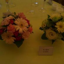 装花の展示です。