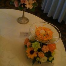 ゲストのテーブル装花です。