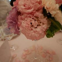 オプションで花びらを散らしました