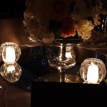 ゲストテーブルのお花周り