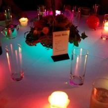 色とりどりのテーブル