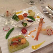 彩り鮮やかな前菜