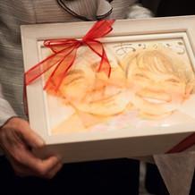 両家両親へ似顔絵をプレゼント