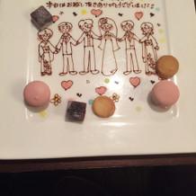最後にはお菓子と可愛い絵が。