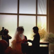 式は明るいながらも厳粛な雰囲気でした