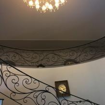 宴会場までの階段