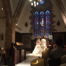 模擬結婚式の様子