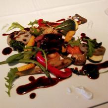 メイン。お肉と野菜