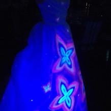 光るドレス(演出後)