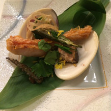 蛤とお魚料理
