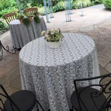 披露宴会場(ゲストテーブル、小さめです)