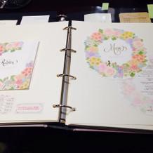 招待状カタログの一例♡