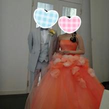 実際に着たカラードレス