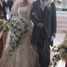 当日の白ドレス、タキシード