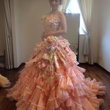 本番で着たカラードレス