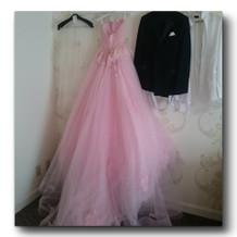 当日着たカラードレス