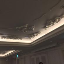 パークビューの天井の装飾がよかった
