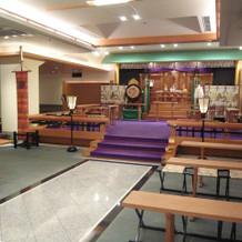 神前式会場はとても広い