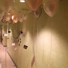 入口。風船を飾りました