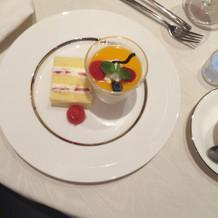 ケーキ入刀のショートケーキ