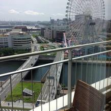 ホテルバルコニーからの眺め。