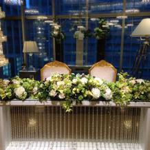 12万円程する装花例、最低6万円程