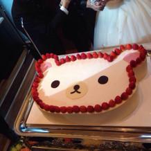 リラックマケーキも希望通りでした。
