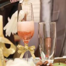 シャンパンリボン付