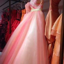 カラードレス(暖色系)