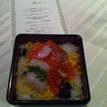 海鮮ちらし寿司。