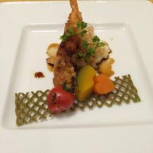 メイン、鯛のポテト揚げ