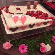可愛らしいケーキになりました!