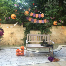 テラス(季節柄ハロウィン装飾