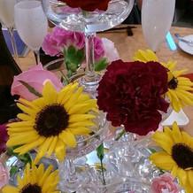 披露宴テーブルの装飾