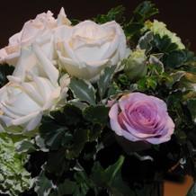 テーブル装飾の花