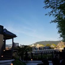 ガーデンからの景色は最高に綺麗でした!
