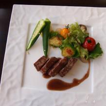 お肉料理。 すごく美味しかったです♪