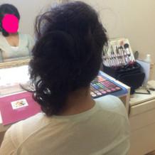リハーサルメイク、食事会の髪型