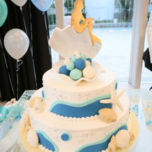 自分たちでデザインしたケーキ