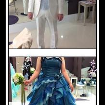 試着したドレス&タキシード