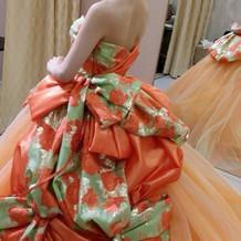洋装よりの和ドレスもありました