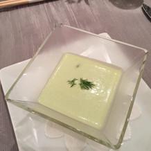 枝豆の冷たいスープ