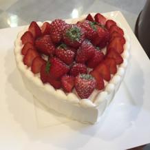 披露宴後に部屋にケーキ!!