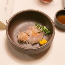 【お造り】 真鯛の昆布〆松皮造り