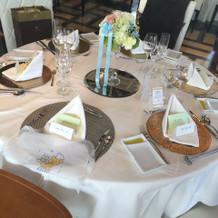 シンプルなテーブル装花。