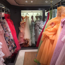 カラードレス 暖色